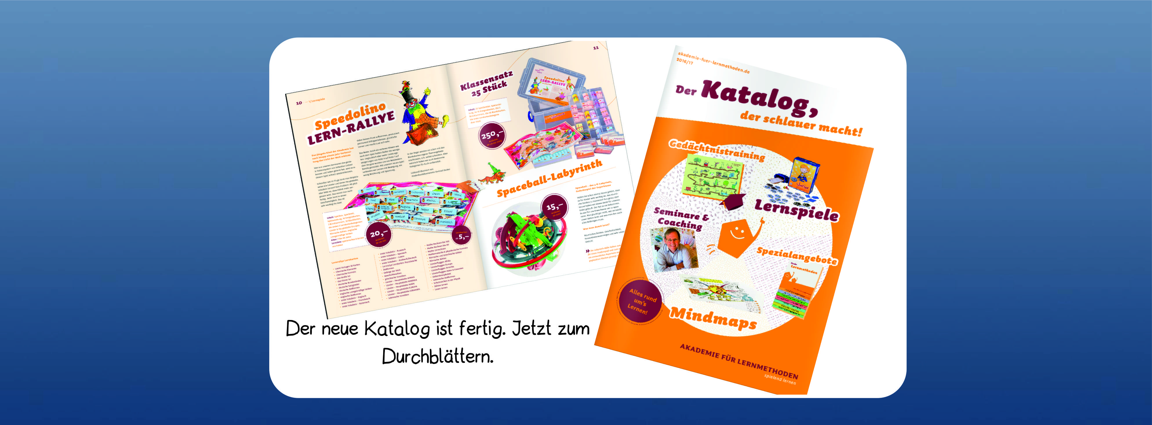 Das Bild zeigt den neuen Katalog der Lernwerkstatt
