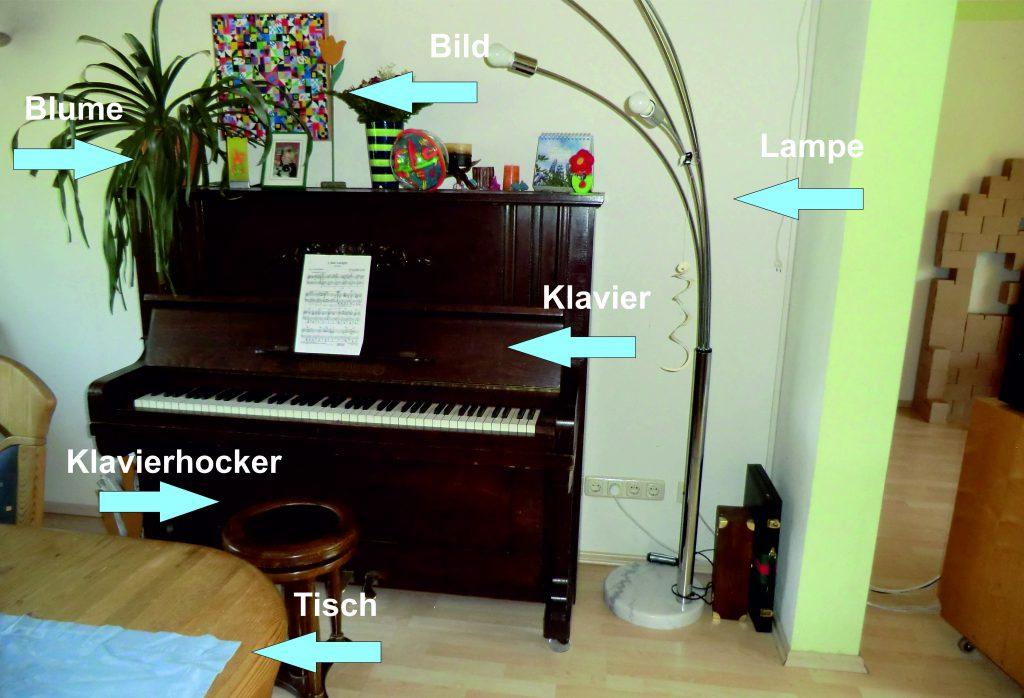 Wohnungsliste ein Klavier